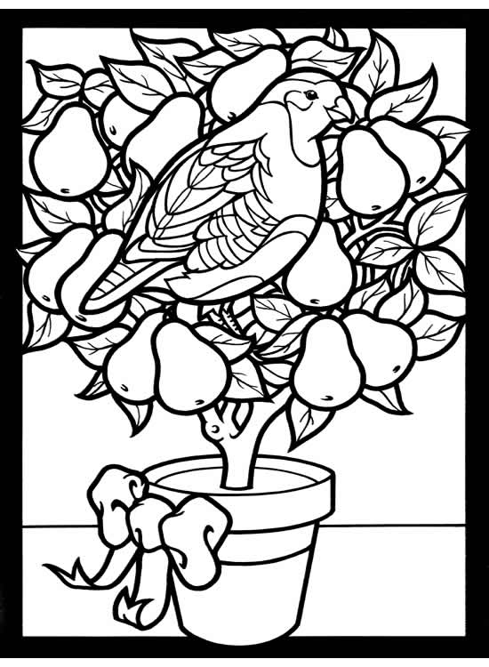 Welcome To Dover Publications Twelve Days Of Printable Coloring Pages