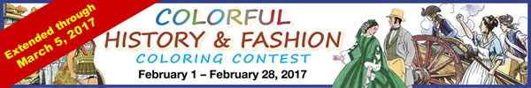 Colorful History & Fashion Coloring Contest