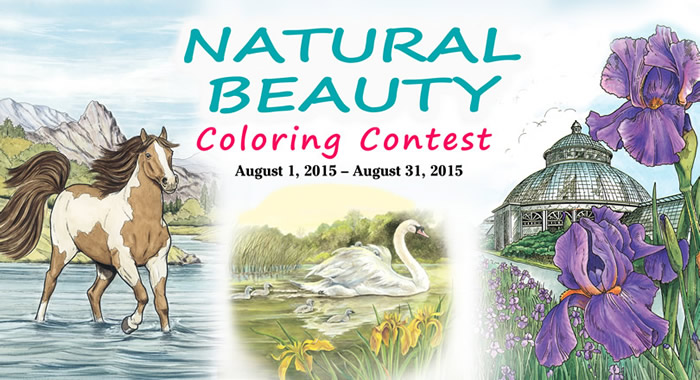 Natural Beauty Coloring Contest