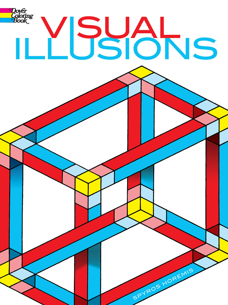 Visual illusions complicated design coloring book