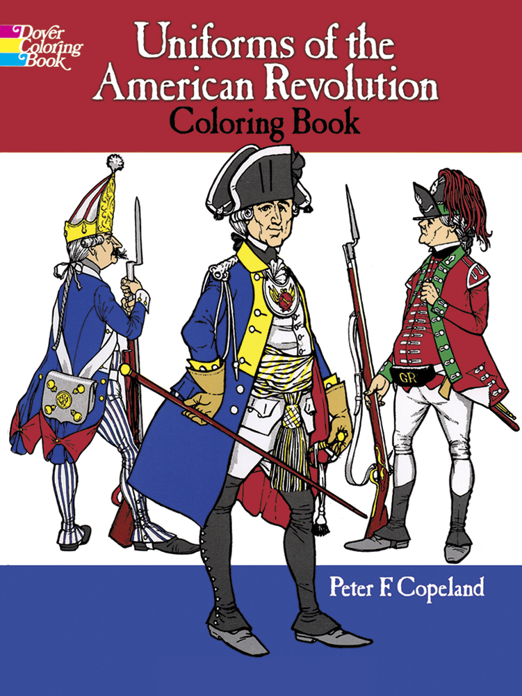American Revolution Uniforms coloring book
