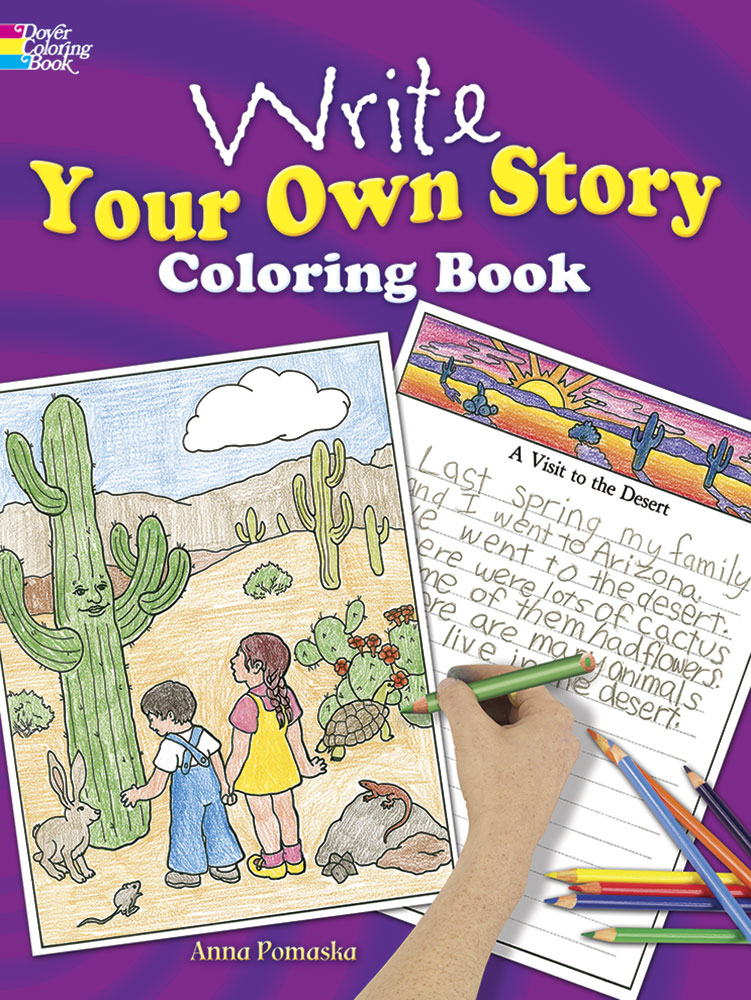 Write your own story creative coloring activity book
