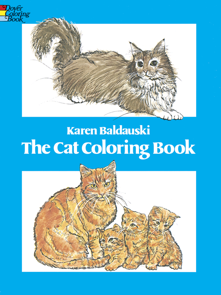 Cat coloring book for teens and adults