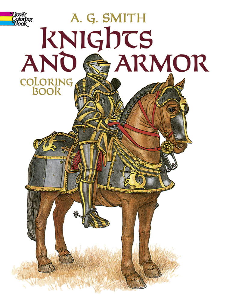 Knights and armor teen coloring book