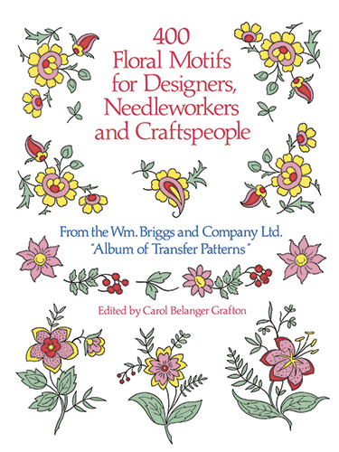 Floral motifs to color or use for craft patterns