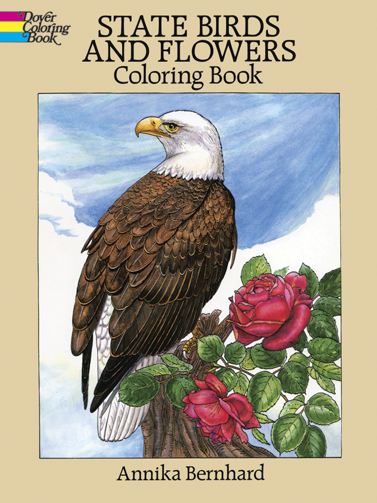 US state birds and flowers coloring book