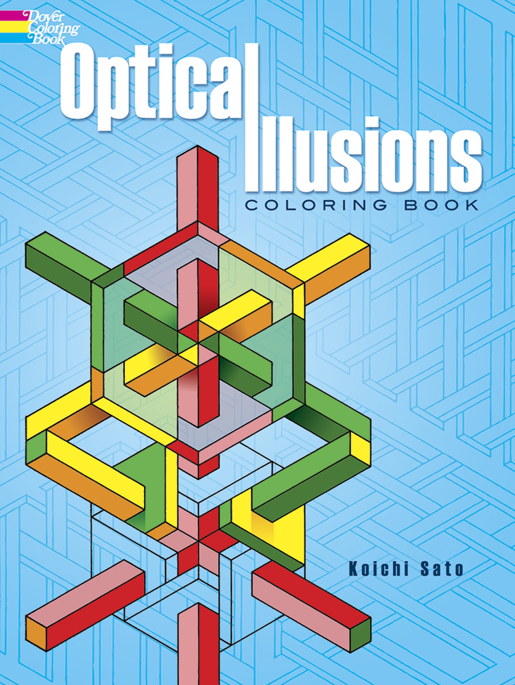 Optical illusions challenging coloring book