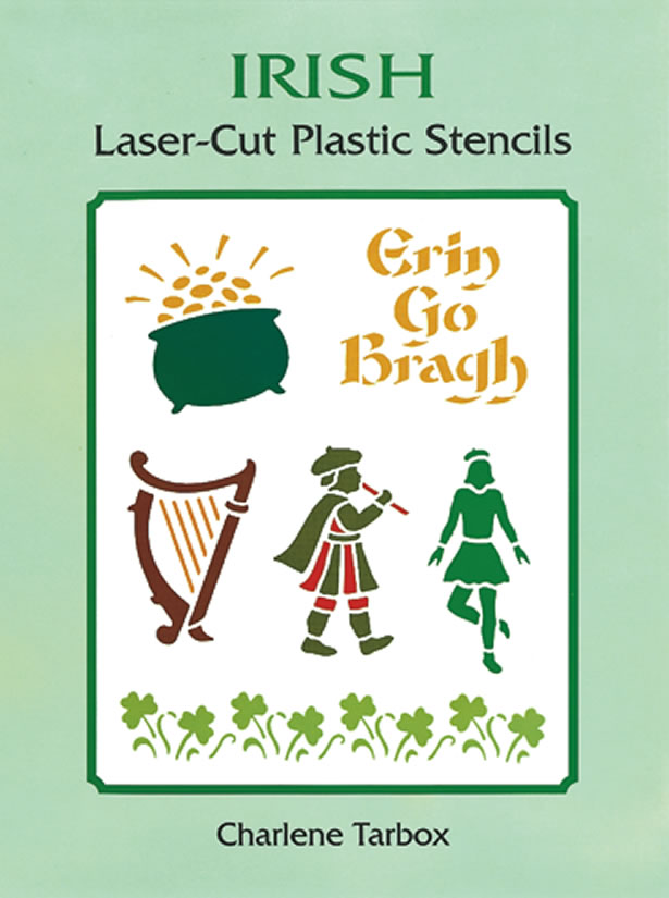 Irish designs craft stencils book