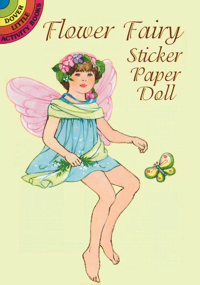 garden fairy sticker paper doll book
