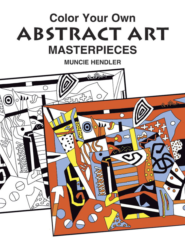 Coloring book abstract art masterpieces