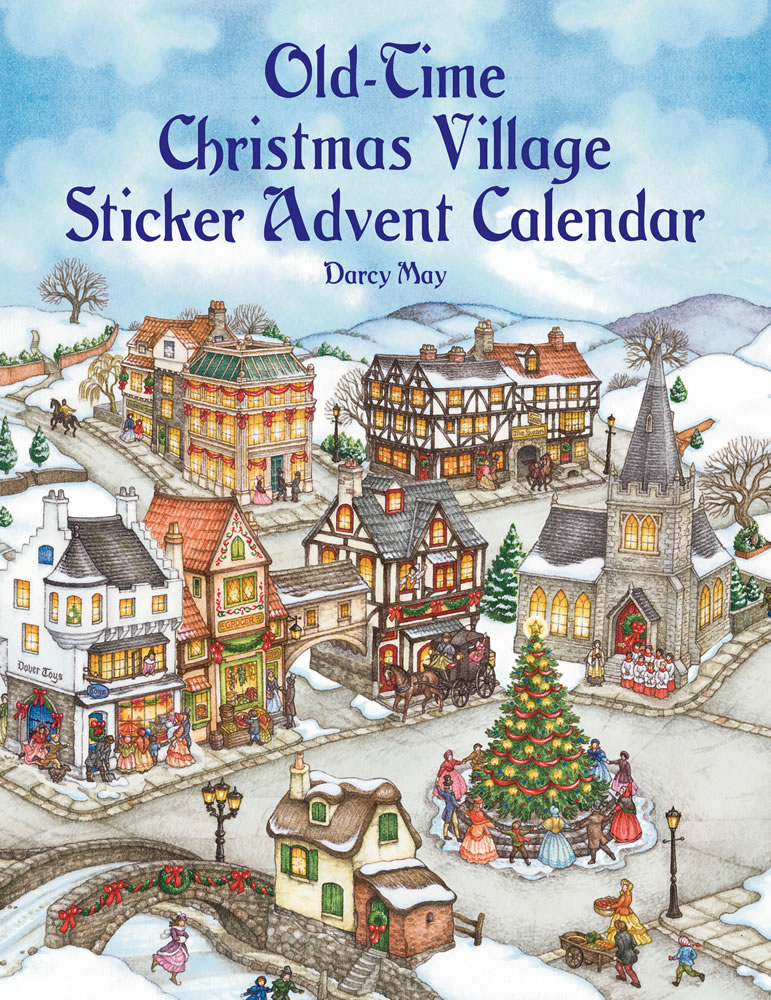 Christmas Advent calendar with stickers