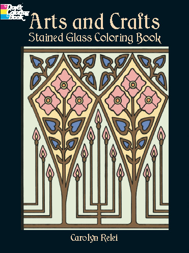 Statined glass designs craftsman architecture coloring book