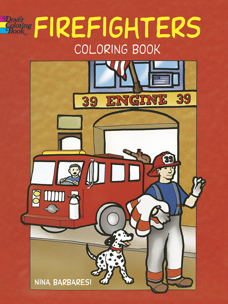 Hero firefighters coloring book