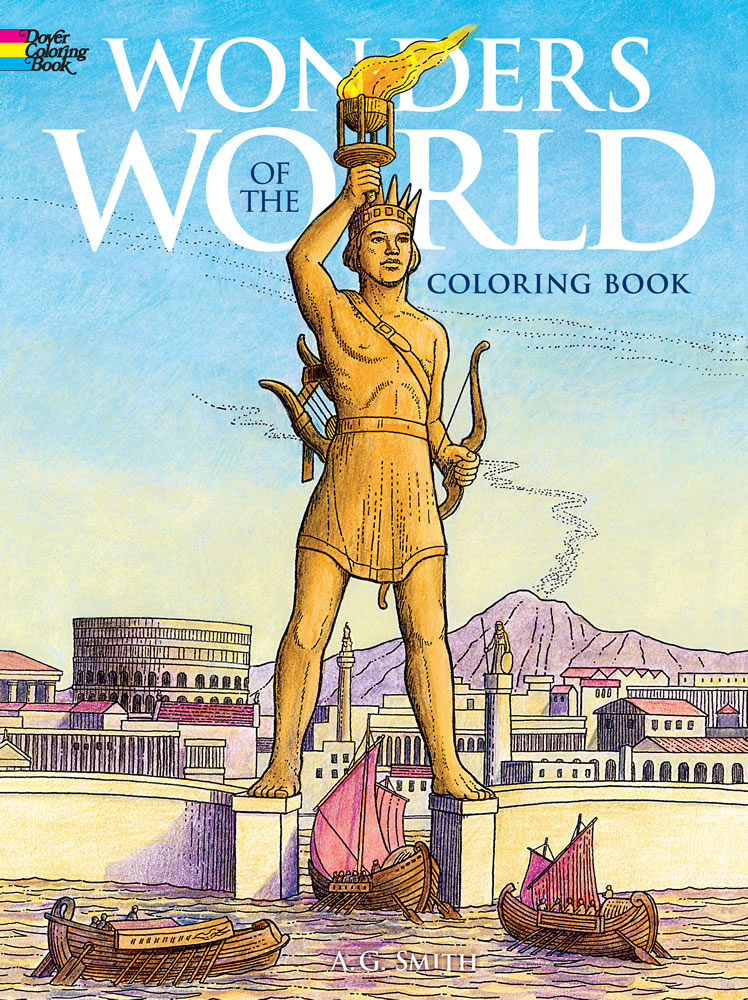 World travel coloring, wonders