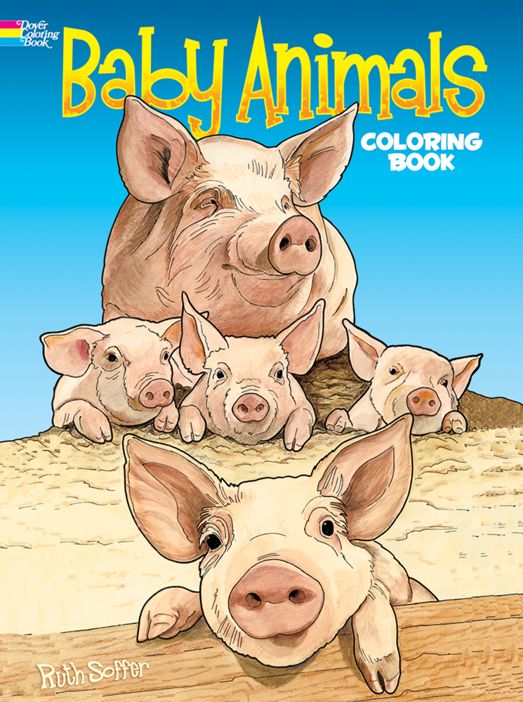 Baby animals coloring book, Dover Publications