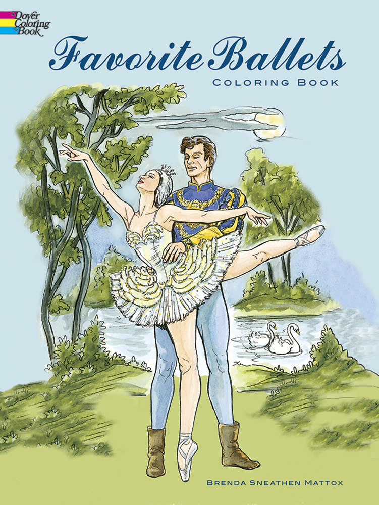 Ballet coloring book for adults and teens