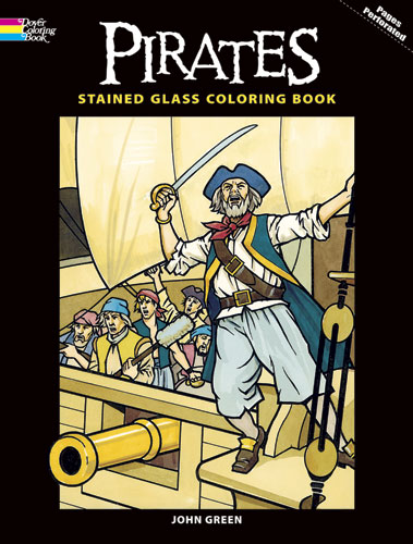 Pirates realistic coloring book for adults and teens