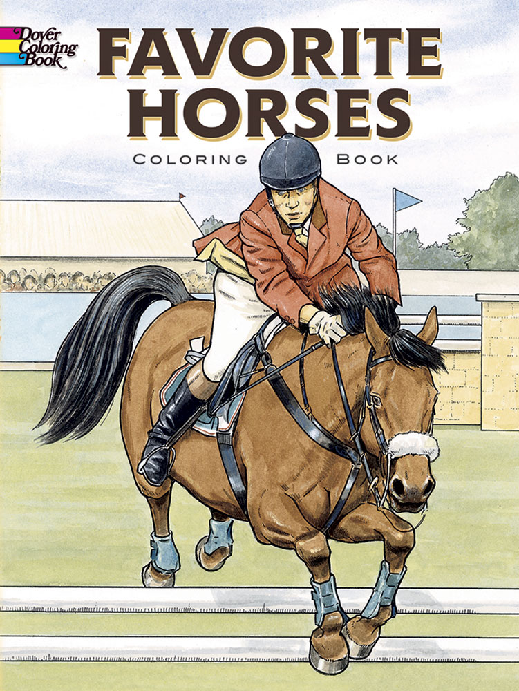 Horses coloring book for teens and adults