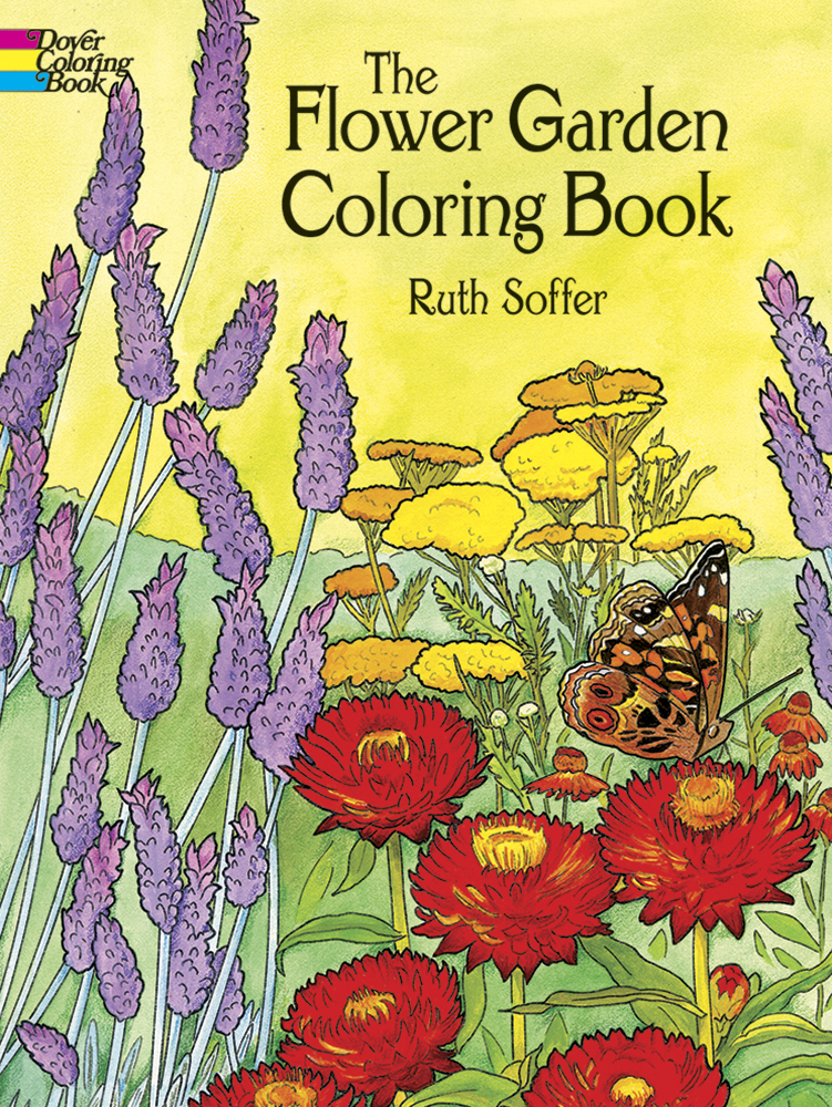 Flower garden coloring book for adults
