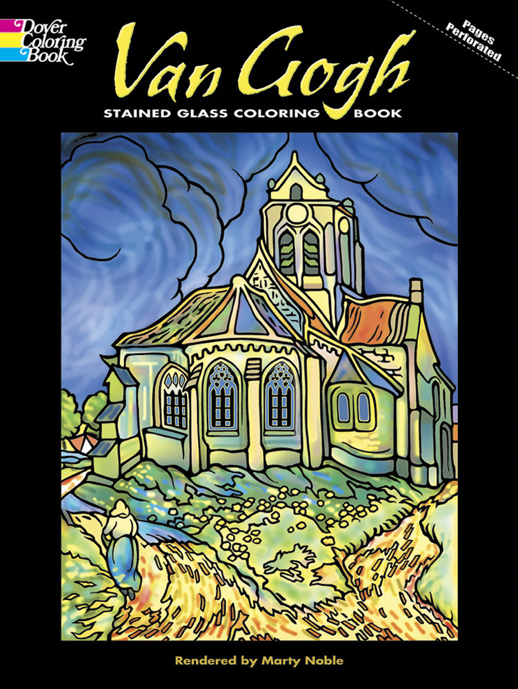 Van Gogh art coloring book