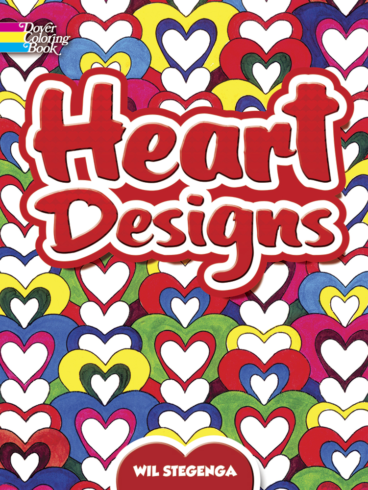 Hearts designs coloring book