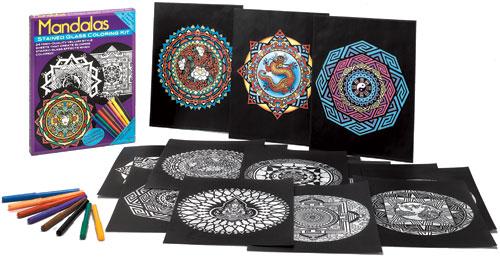Mandala designs coloring set