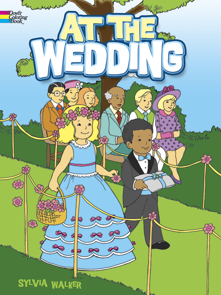 Cute wedding coloring book