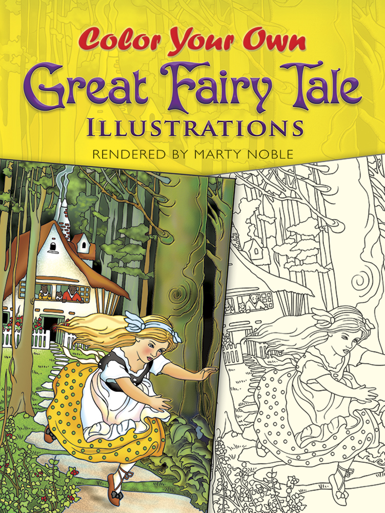 Fairytale coloring book illustrations