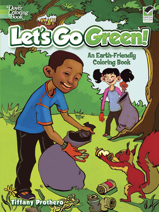Go green Earth friendly coloring book for kids