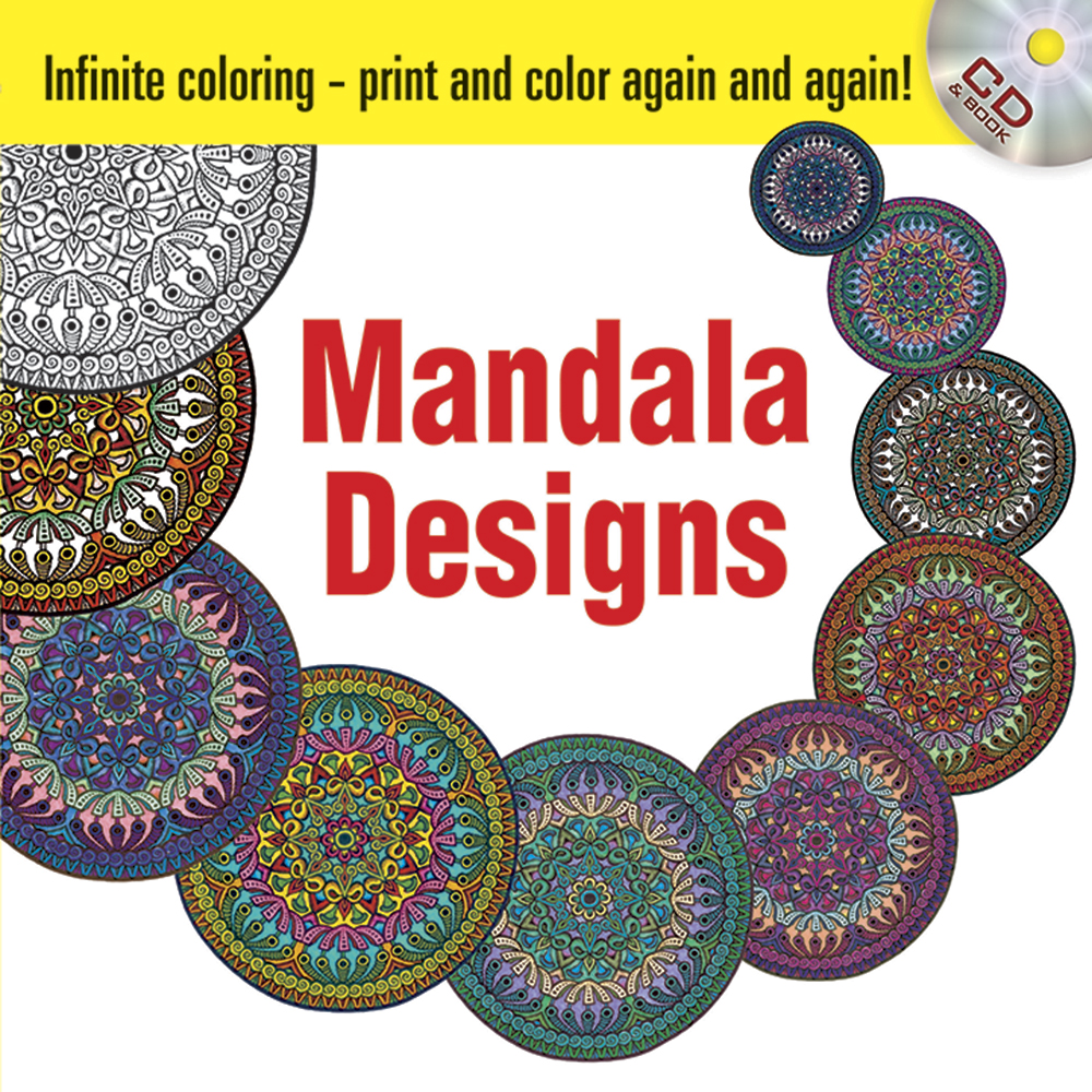 Mandala designs CDROM and book, infinite coloring mandalas
