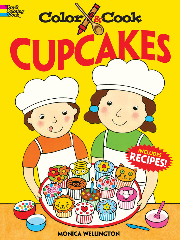 Cook and color cupcakes coloring book