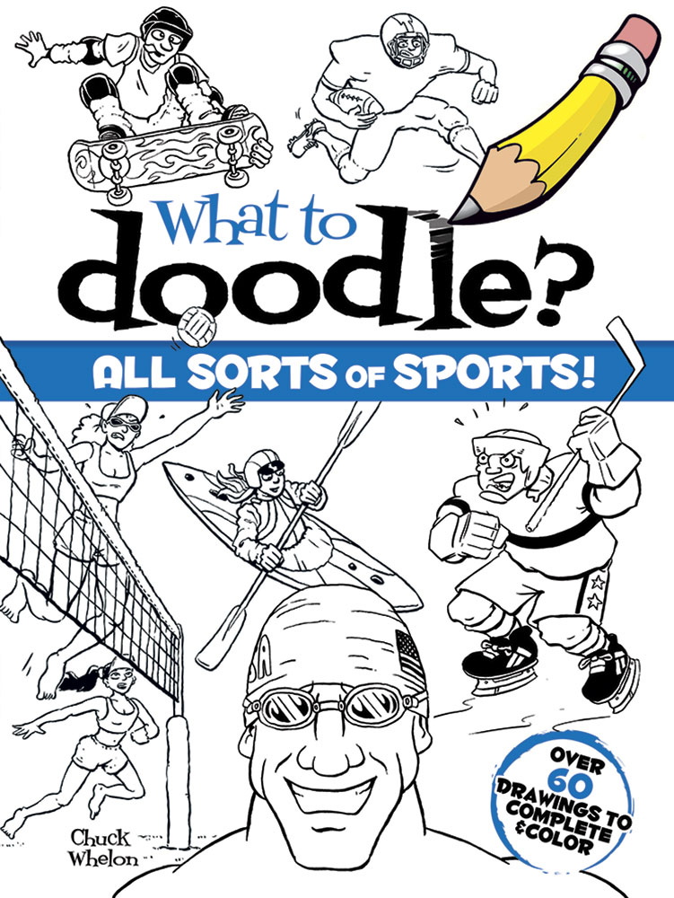 Doodle and draw sports coloring book