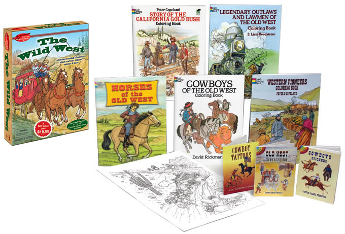 Wild West coloring and activity kit