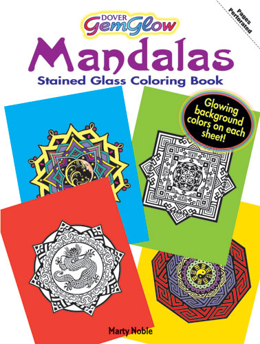 Stained glass effects mandala coloring sheets