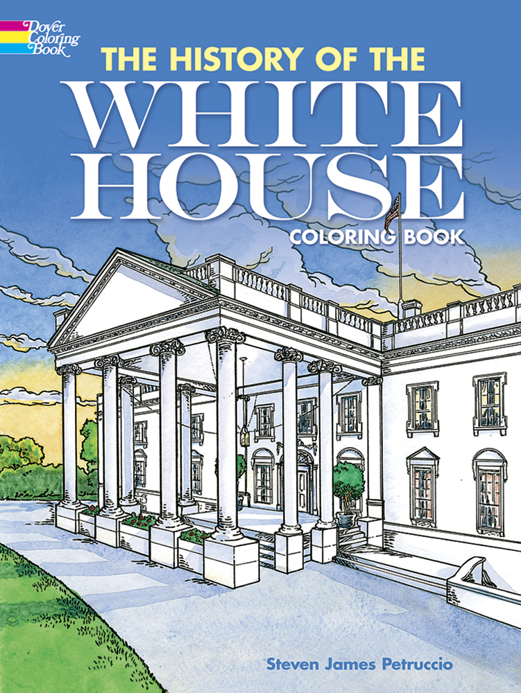 White house history coloring book