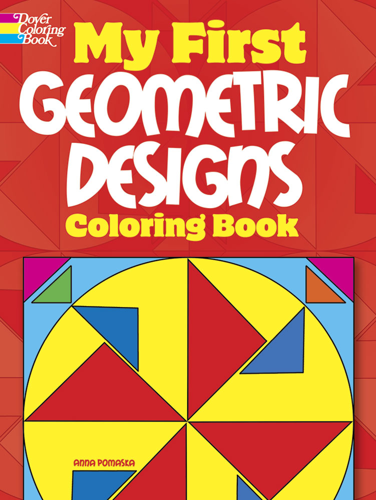 First geometric shapes coloring book