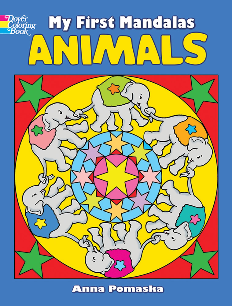 Cute animal mandalas coloring book