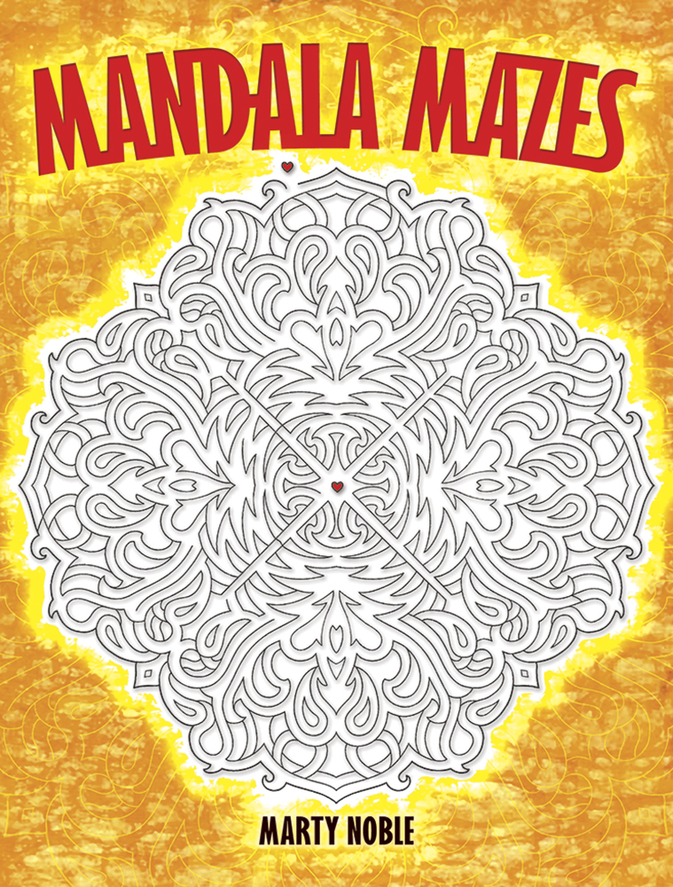Mandala mazes activity and coloring book