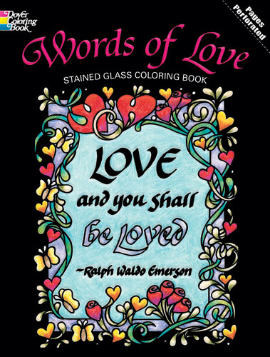Words of Love coloring book for adults and teens