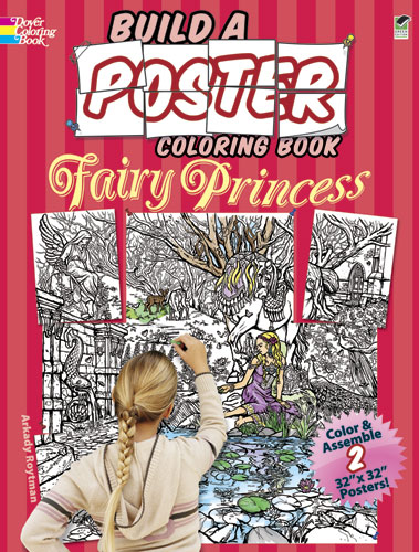 Build a poster fairy coloring book