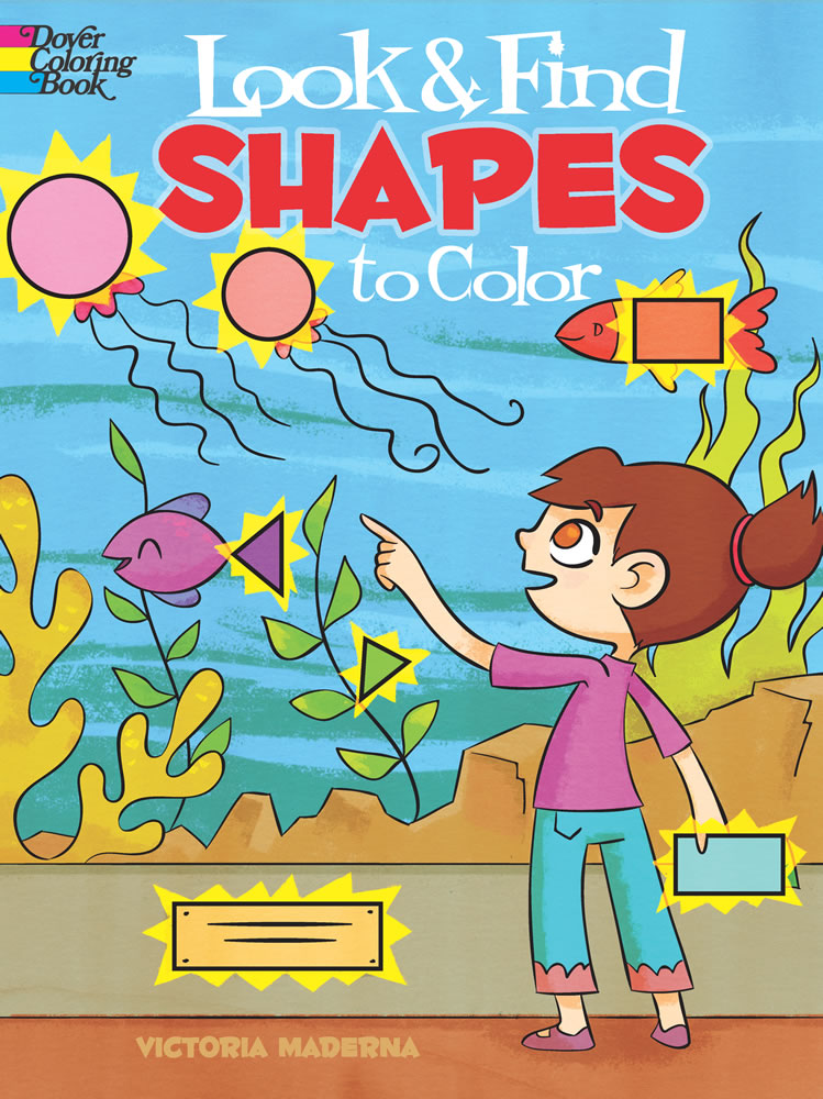 Shapes activity coloring book