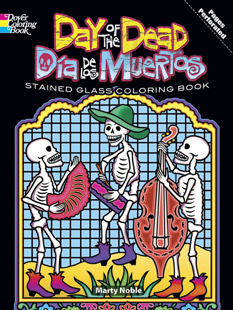 Day of the Dead coloring book dia de los muertos