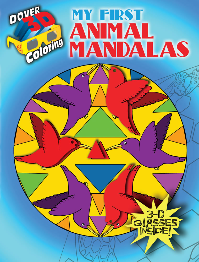 Simple animal mandalas to color in 3D