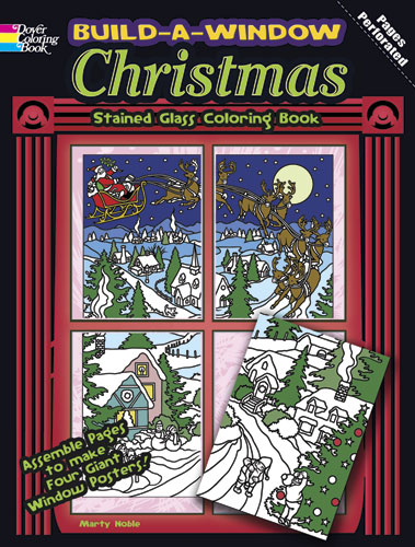 Christmas window scenes poster coloring book