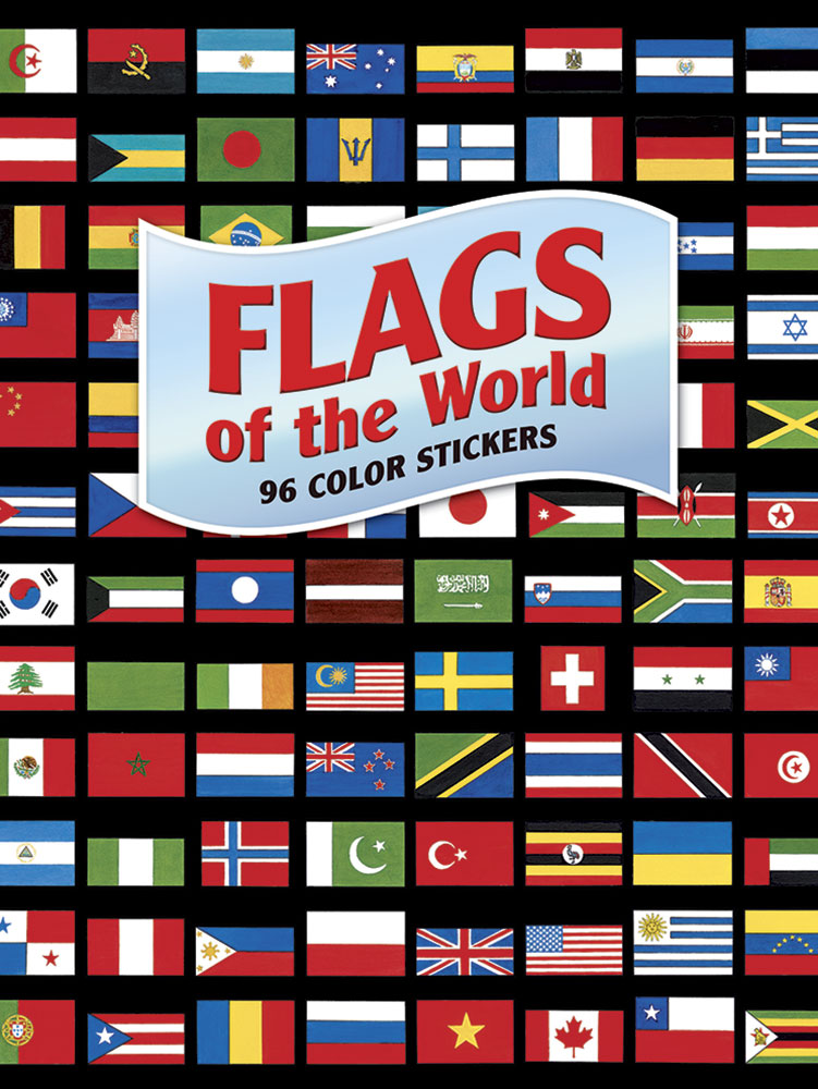 World flags stickers book