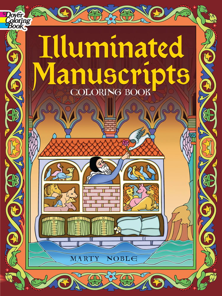 Illuminated manuscripts coloring book art
