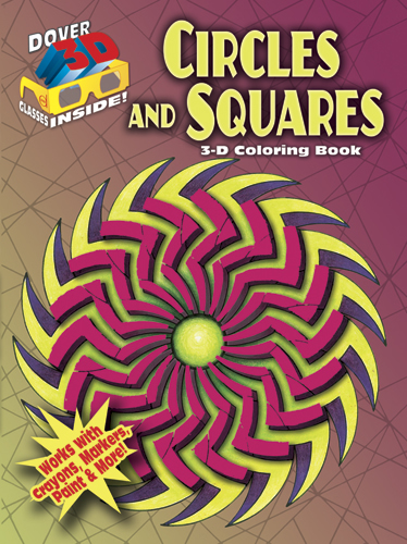 3D coloring book circles and squares