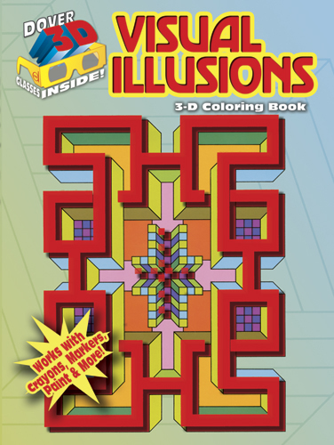 Visual illusions 3D coloring book