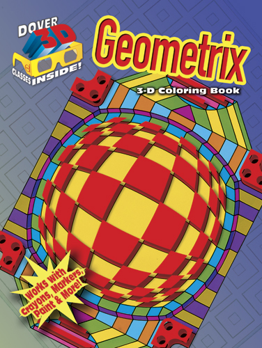 Geometrix 3D coloring book with glasses