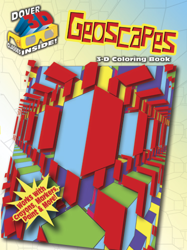 3D geoscapes coloring book